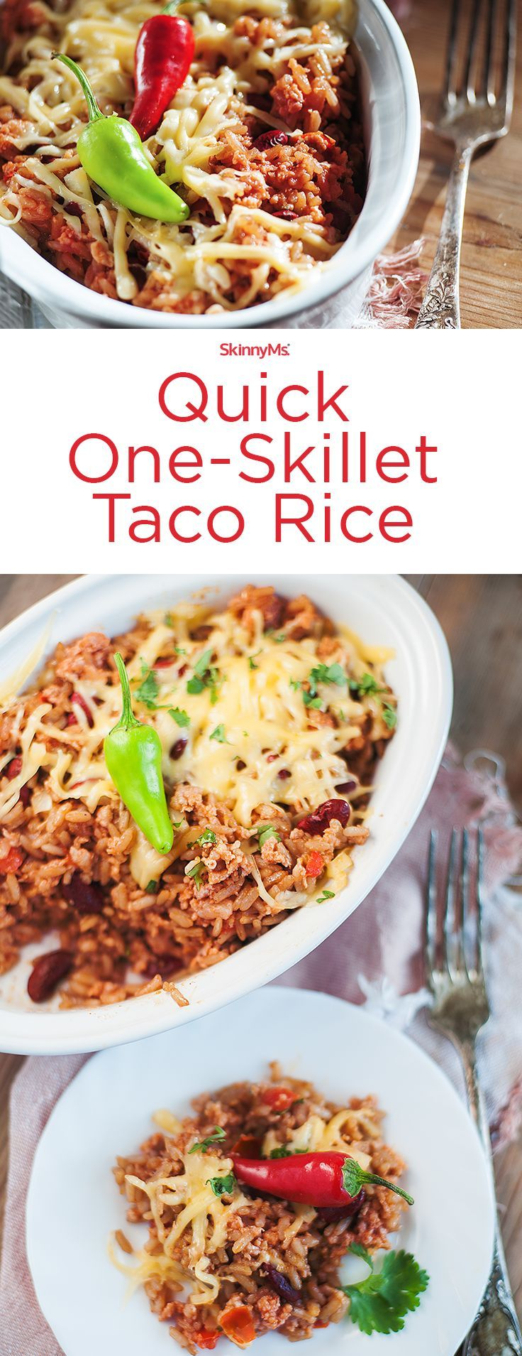 Quick One-Skillet Taco Rice!