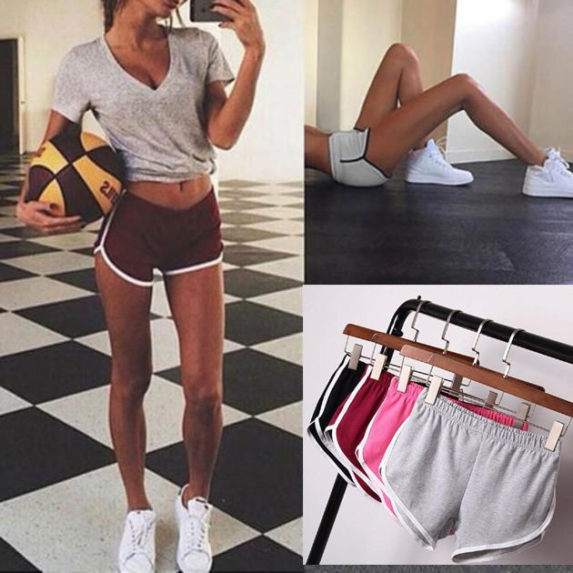 Women's Girl Lady Waistband Shorts Yoga Fitness Gym Running Skinny Workout Pants #Unbranded