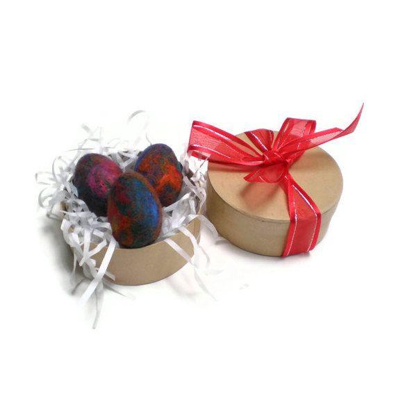 Felt Eggs Rainbow Eggs Easter Birthday Gift by MissTreeCreations, $20.00