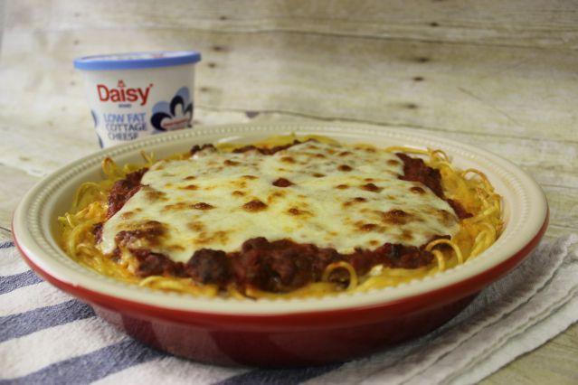 Daisy Cottage Cheese Spaghetti Pie Recipe