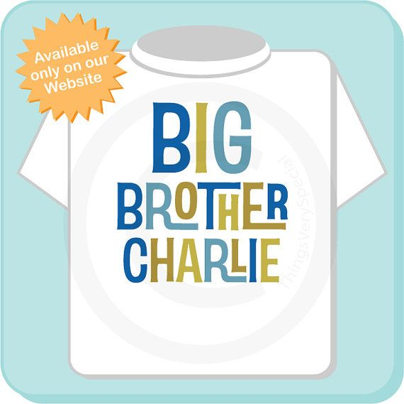 Big Brother Shirt Personalized Infant Toddler by ThingsVerySpecial, $13.99