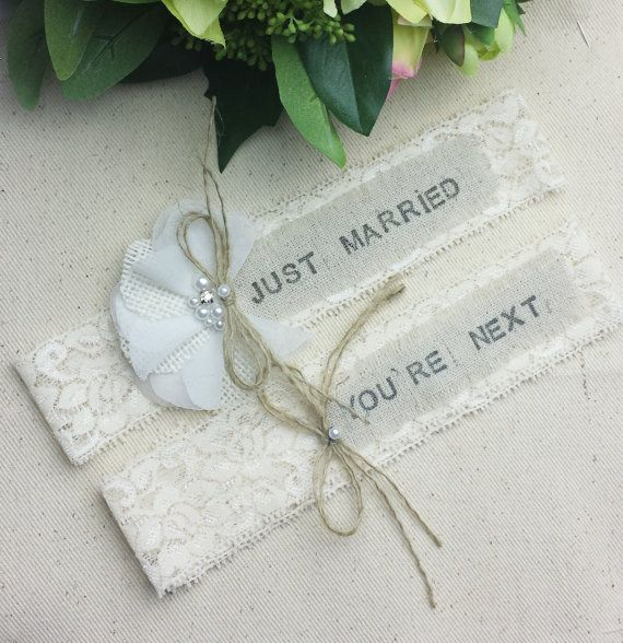 Country Wedding Garters: Rustic Country Chic Wedding Garter Set By