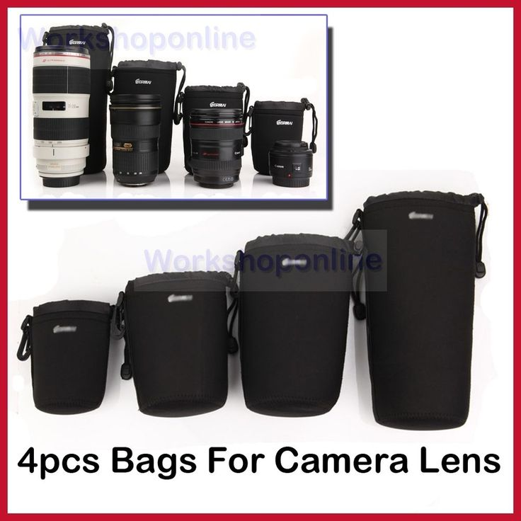 New Neoprene DSLR Camera Lens Protection Bag Pouch for Nikon Canon Sony in Cameras, Photographic Accessories, Cases, Bags & Covers | eBay