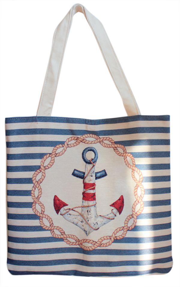 Beach bag sailor lines