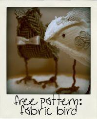 Easy pattern....fun felt bird project...soft sculpture
