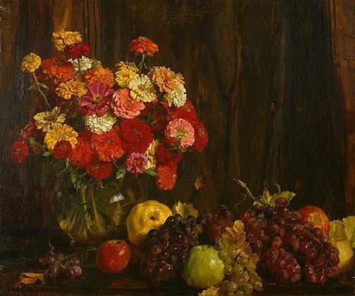 Flowers and Fruit - Hans Heysen