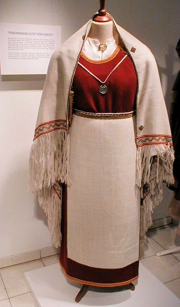 """""""recreation of an ancient dress of Perniö, Finland, based on grave findings, viking age"""""""