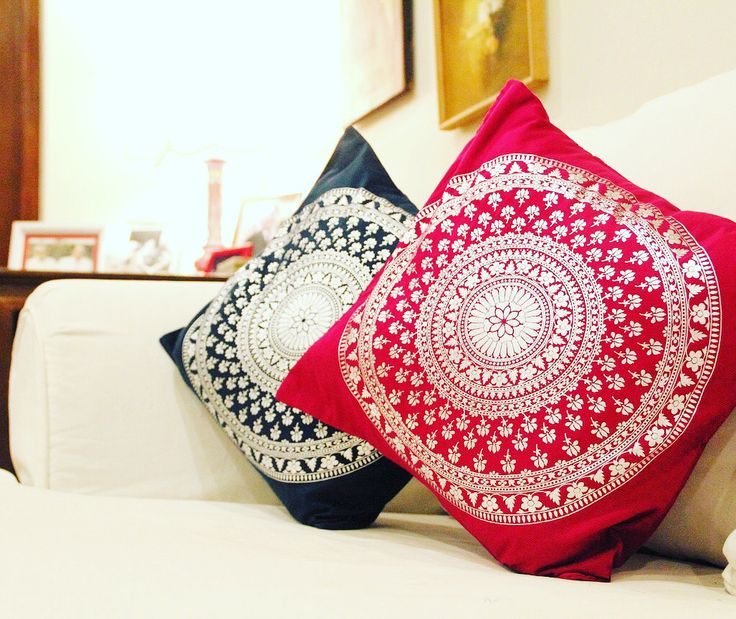 """Presenting folkloric's festive collection-""""Bidri Inspired Cushions"""".  #festivehomedecor #diwali #folkloricindia #bidri #inspiredfolkloric #cushioncover #cushionlove #homedecor  Bidri is a unique metal-ware craft practiced in southern India; in parts of Karnataka and Andhra Pradesh. This collection is a result of our travels towards the region called Bidar and our new found love for the craft! Bidri's contrasting colours and intricate designs and craftsmanship makes it this beautiful.."""