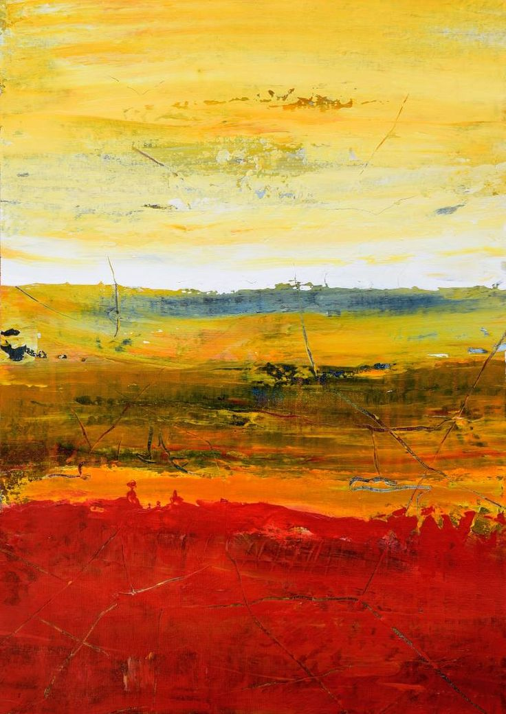 Buy OX577, a Acrylic on Canvas by Radek Smach from Czech Republic. It portrays: Abstract, relevant to: positive, summer, sunrise, sunset, yellow, energy, abstract, landscape, layered Painted on the sheet of canvas. Framing required. Signed on the back