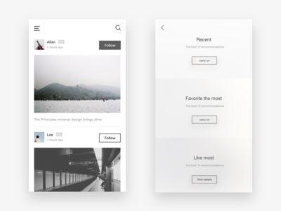 Photo social app design 5