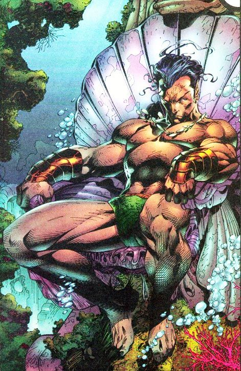 Jim Lee's art captures the King of Atlantis in Marvel Comics - Namor the Submariner.