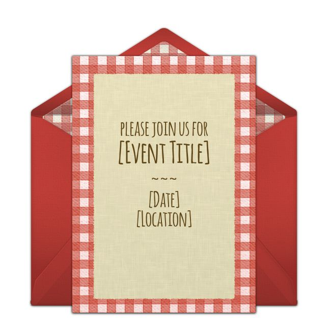 Picnic Pattern Online Invitation from Punchbowl.com