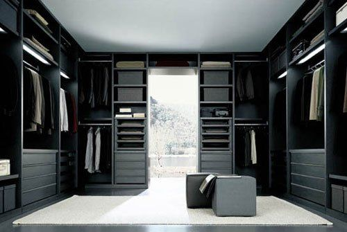 dark wood bedroom closet