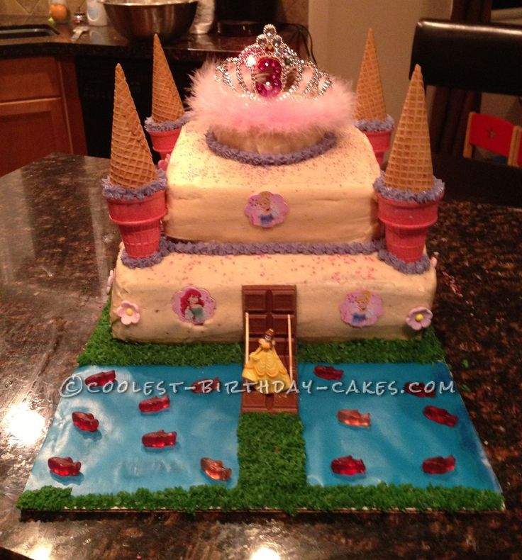 Coolest Princess Castle Birthday Cake... This website is the Pinterest of birthday cake ideas