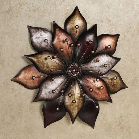 Arris Layered Floret Metal Wall Art