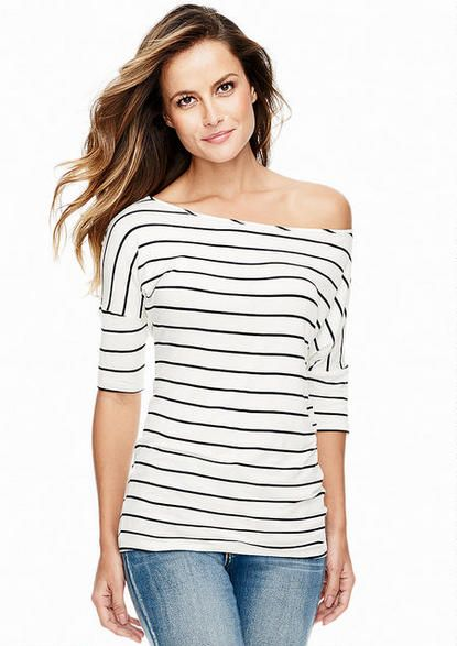 Off-Shoulder Elbow Sleeve Tunic - Plus Size Tops - Alloy Plus - Alloy Apparel