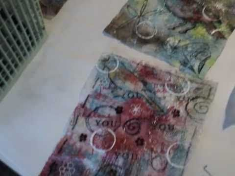 Recycled Dryer Sheets for Collage