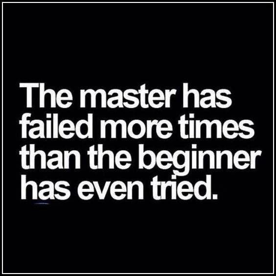 The difference between a master and the beginner