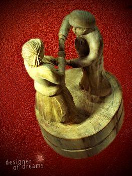 """polandhandmade.pl #polandhandmade #rzeźba  mała rzeźba """"Mali Tancerze"""". Rzeźba zainspirowana występami dzieci z zespołu Polonia Dance Ensemble, które odbyły się w Performing Arts Centre - Regina, Kanada -2012"""
