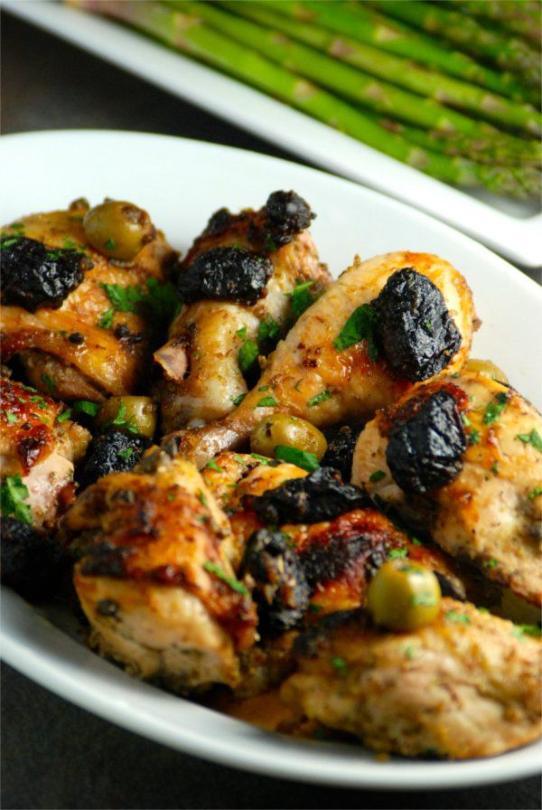 Chicken Marbella | Recipe | Dried dates, Asparagus and The o'jays
