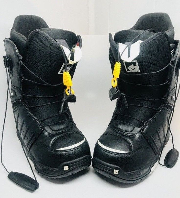Burton Moto Imprint 1 Black snowboard boots Men's Size 8 Excellent condition