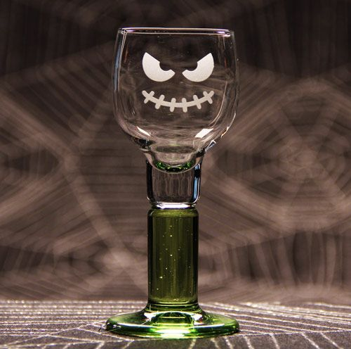 Best Halloween Images On   Glass Etching Glass