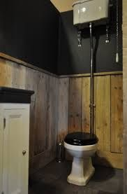 51 best images about my cabin in the woods on pinterest pebble floor cedar shingles and auction - Stijl van toilet ...
