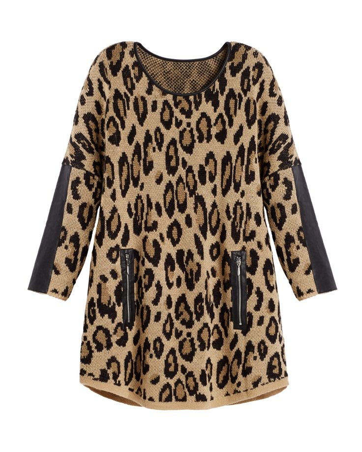 Black Label by Chico's Leopard Knit Sweater