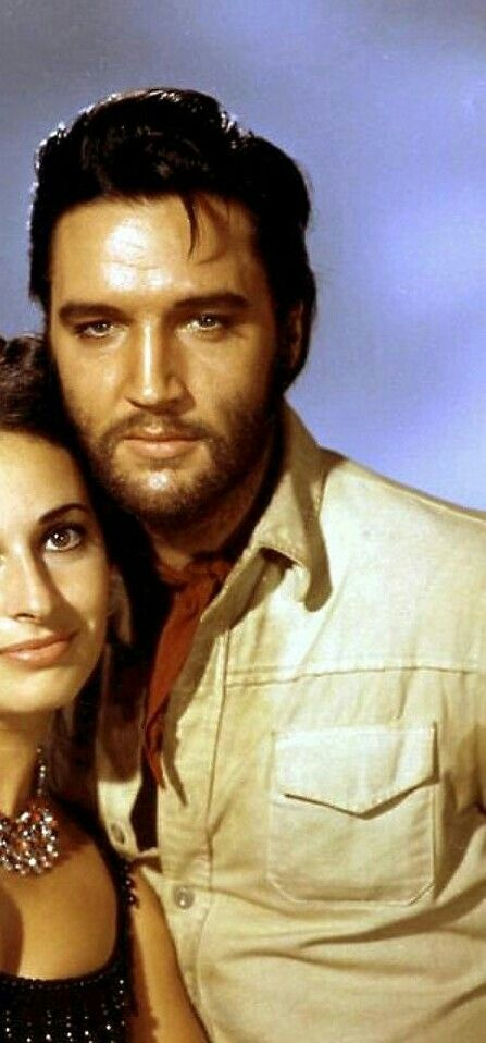 Elvis with co star Ina Balin in his 'Charro' movie in 1969 ...
