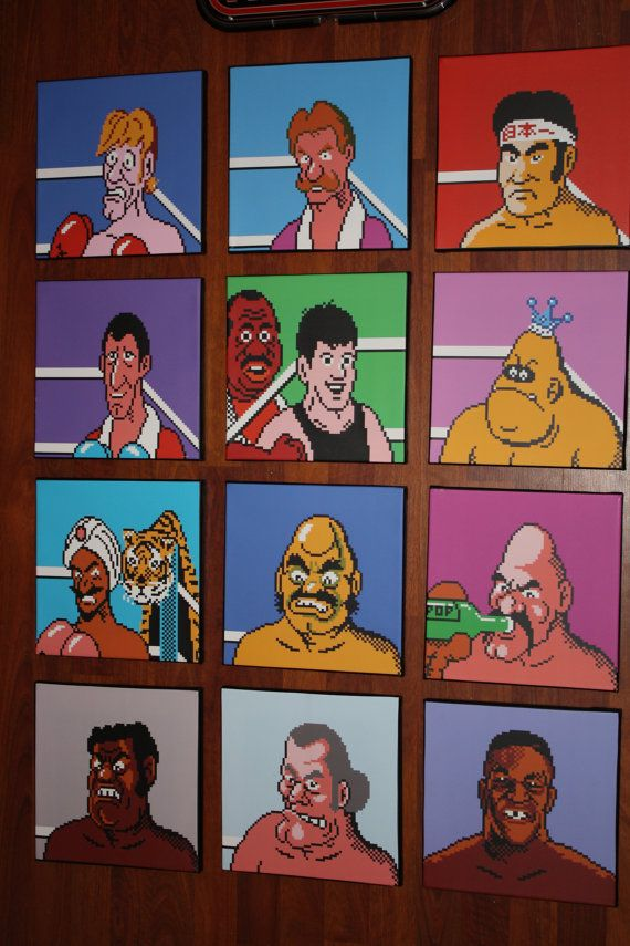 nintendos mike tysons punch out canvas art 12 10x10 by brendaneg