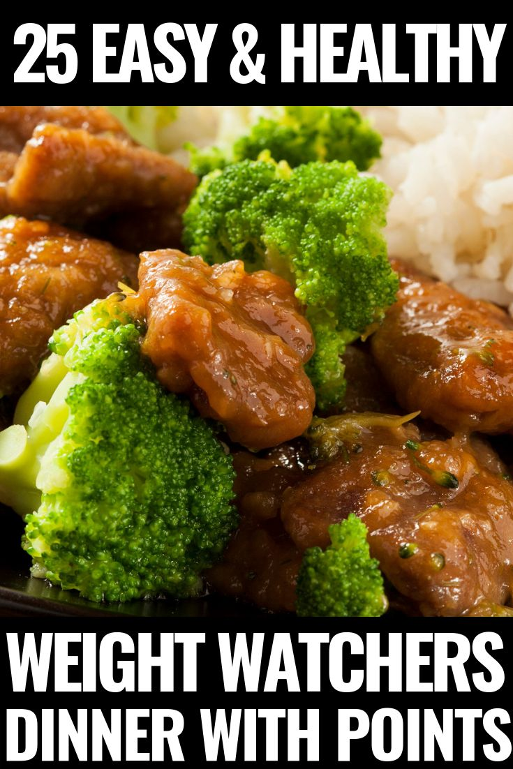 Weight Watchers Meals for Dinner With Points! 25 Fast & Fabulous Meals!
