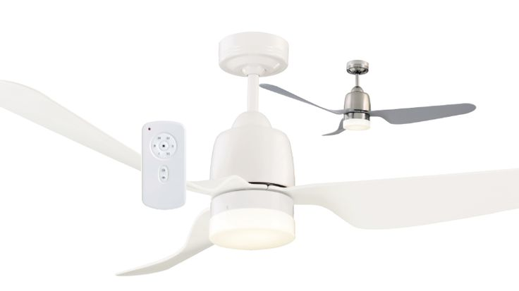 "Mercator+Manly+DC+LED+Ceiling+Fan+with+DIMMABLE+12w+LED+Light+&+Remote+-+52""+-+Brushed+Chrome+or+White+FC378134, $305.00"