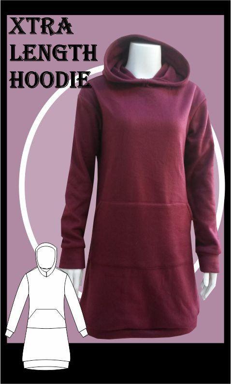 Extra Length Hoodie Sewing Pattern