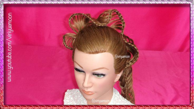 ✿ TRENZA MARIPOSA O CON PLIEGUES ✿  Ver Video ✿ https://www.youtube.com/watch?v=UHfxn2xhIGk&list=UUjeOxNl45W0KQx6JyZtUdlw✿   #peinados #hairstyles #trenzas #braids #peinado #hairstyle #trenza #braid