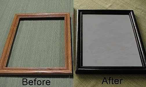 paint dated picture frames to easily transform your home's decor