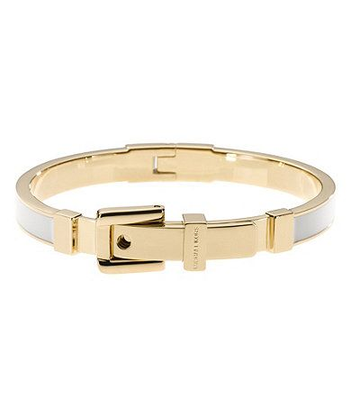 Buckle Enamel Bracelet, Pink/Silver Color by Michael Kors!