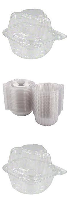 Bulk Cupcake Containers. Single Individual Cupcake Boxes, Strong and Sturdy, BPA Free, crystal Clear Plastic, Cupcake and Muffin Containers with Superior Hinged Lid, Clear (40, cupcake container individual).  #bulk #cupcake #containers #bulkcupcake #cupcakecontainers