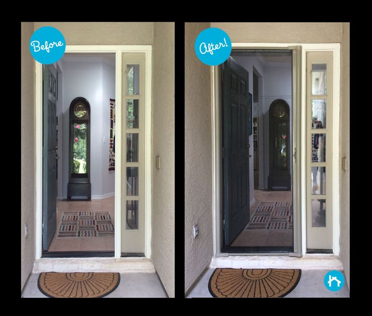 Exceptional Storm Door Inserts #29 - Before U0026 After Photos Of Front Door Transformation Stories Using ODL Or  Wester Reflection Door Glass Inserts From Zabitat.