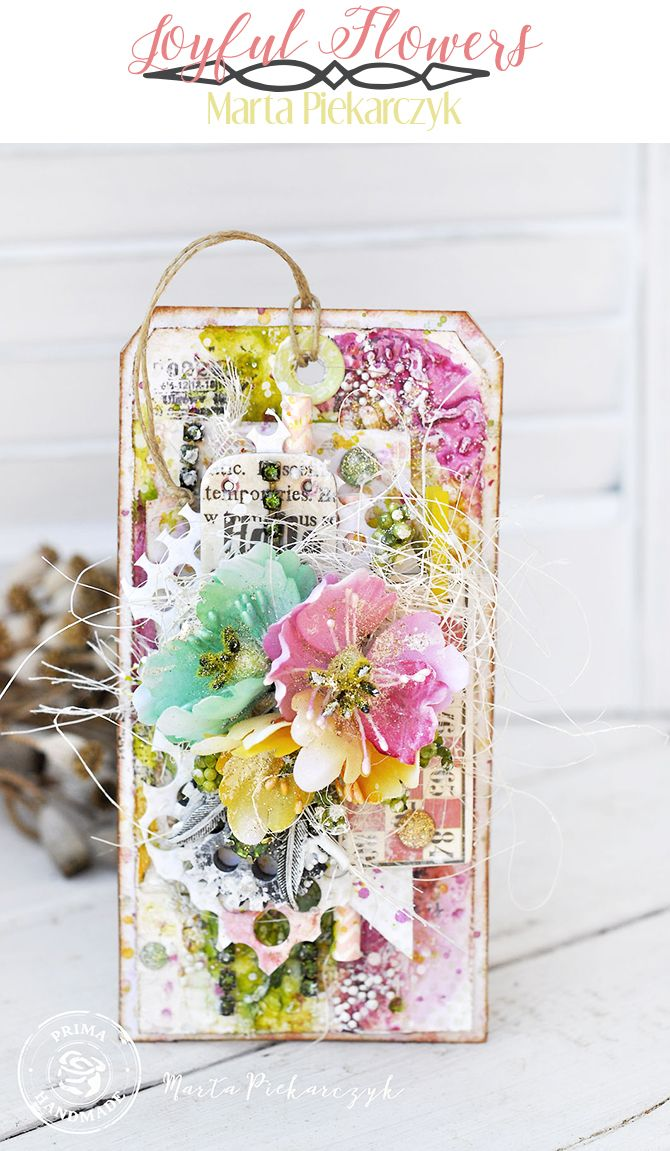 """""""These beautiful, colorful Flower Bundles were a must-add to my tag! I love them with the new Sweet Peppermint collection. They are so joyful!"""" ~ Marta Piekarczyk"""