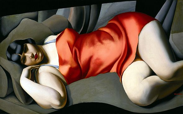 Woman in Red - Tamara de Lempicka