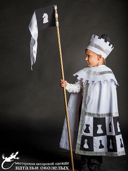 Детские карнавальные костюмы ручной работы. Ярмарка Мастеров - ручная работа Белый Ферзь (карнавальный костюм). Handmade.
