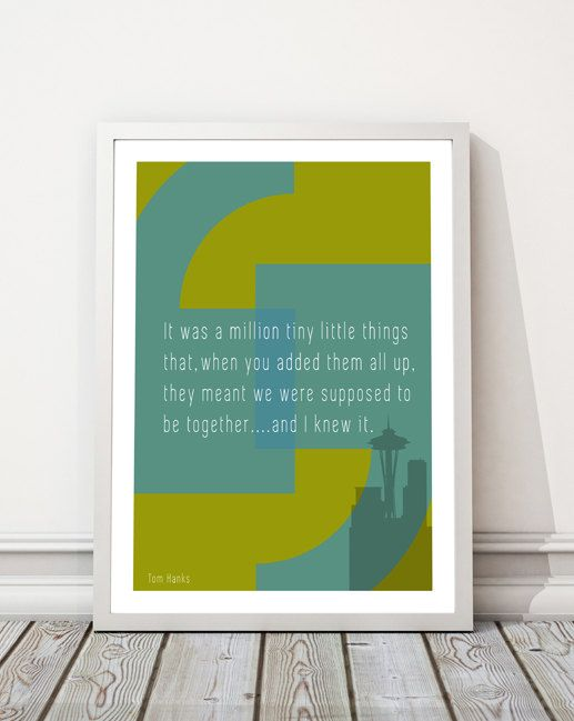 Love Quote Print Tom Hanks Quote Sleepless In by houseofprintsshop