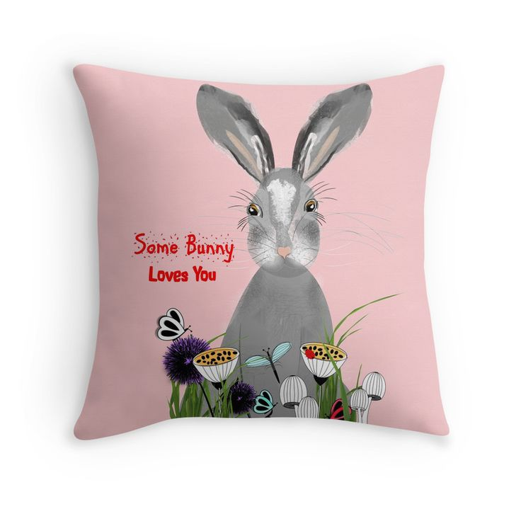 Sweet Whimsy Fluffy Bunny Rabbit Some Bunny Loves You