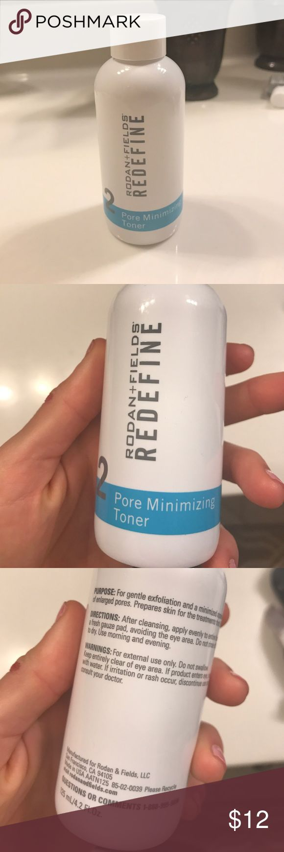 Rodan and Fields Redefine Toner This product is opened and is about 3/4 full. Rodan and Fields Other