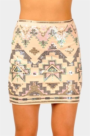 sequined tribal mini