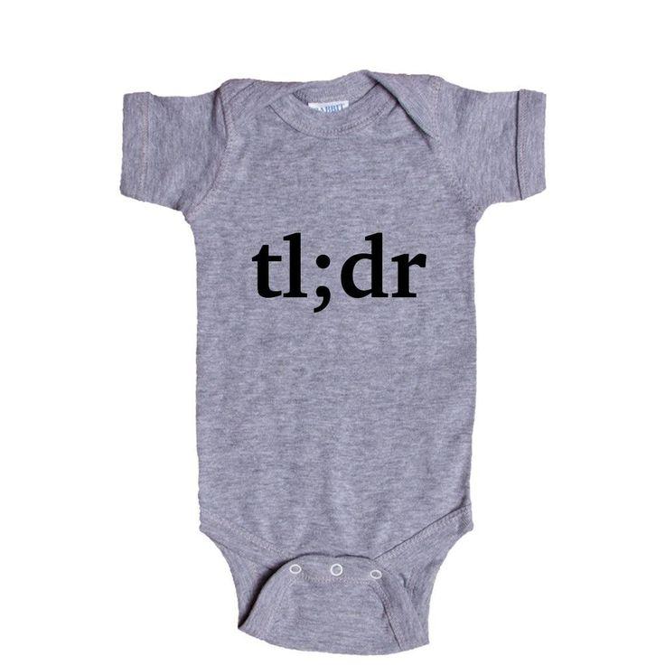 TL DR Too Long Didn't Read Internet Text Posts Stories Online Computers Meme Memes Video Viral SGAL7 Baby Onesie / Tee