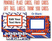 Nerf Party Food Tags, Editable Tags, Nerf Food Labels, Editable Labels, Food Cards, Place Cards, Thank You Tags, Gift Labels, Nerf Gun Party
