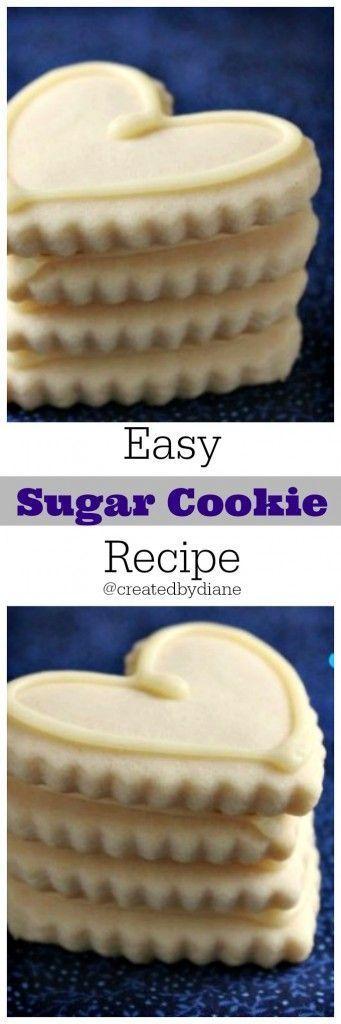 EASY Sugar Cookie Recipe from /createdbydiane/