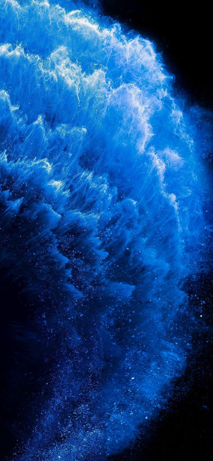 Ios 13 Iphone 11 11 Pro Xr Xs Max Blue Water Stock Dark Clean Simple 4k