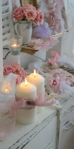 Lovely #shabby look with lace